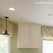 Relaxed roman Shade in a kitchen