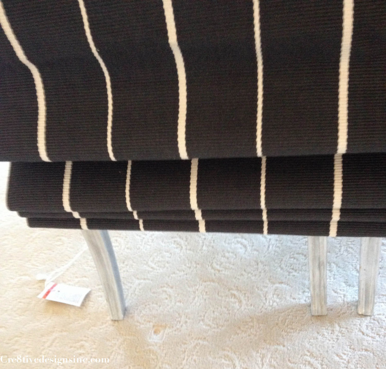 Flat weave rug roman shade