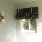 Roman shade made with a vinyl mini blind