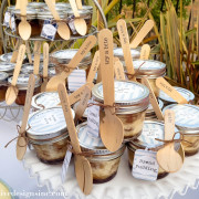Mini dessert cherry pie mason jars