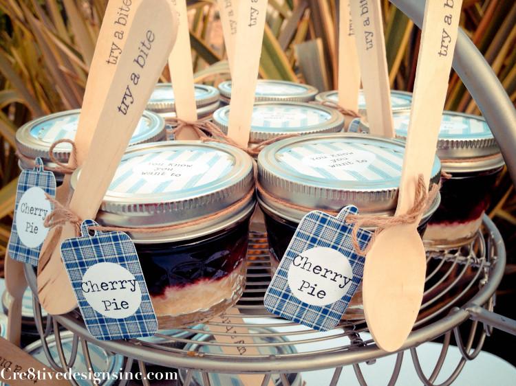 Mini dessert mason jars