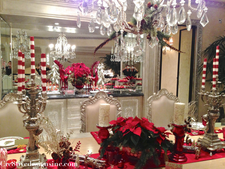 Red, gold and silver Christmas decorating