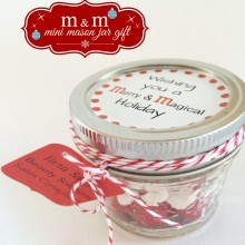 M & M gift jars