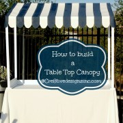 How to build a Table top canopy copy