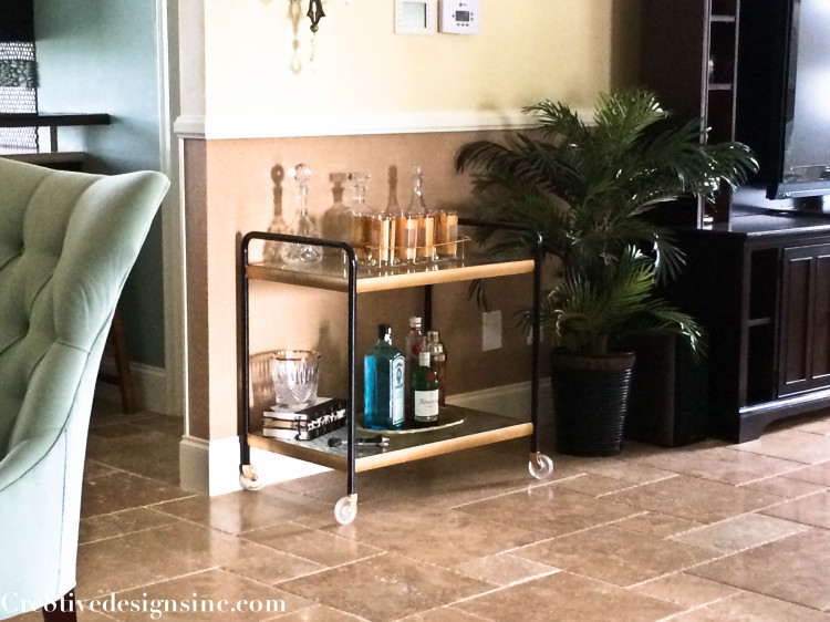 Black and gold Bar Cart