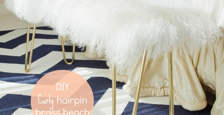 DIY curly hairpin brass bench