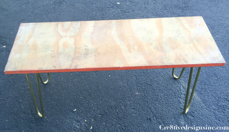 Curly hairpin brass bench