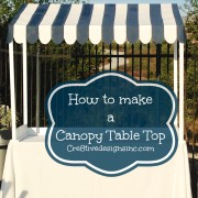 How to make a Table top canopy