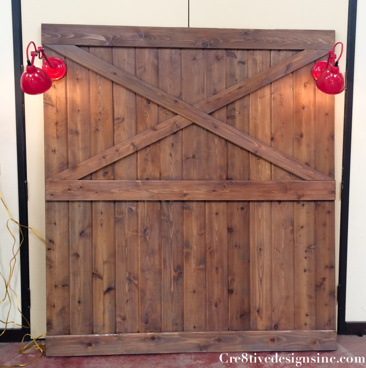 Barndoor headboard with lights-11