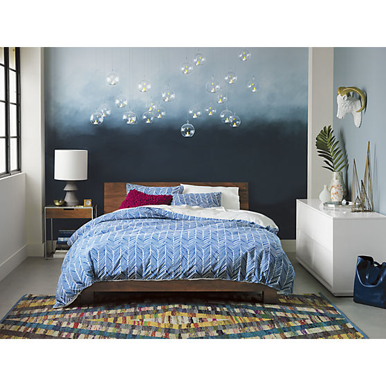 West Elm Bed wall