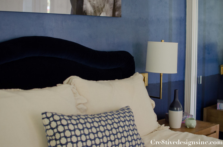 Navy ombre wall