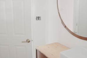 Vintage vanity with vintage mirror