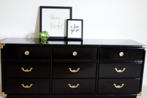 DIY High Gloss Campaign Dresser