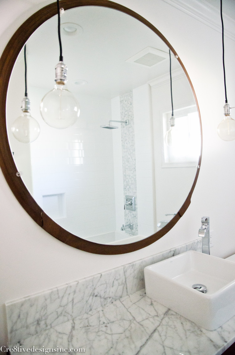 Mid-century Modern bathroom mirror