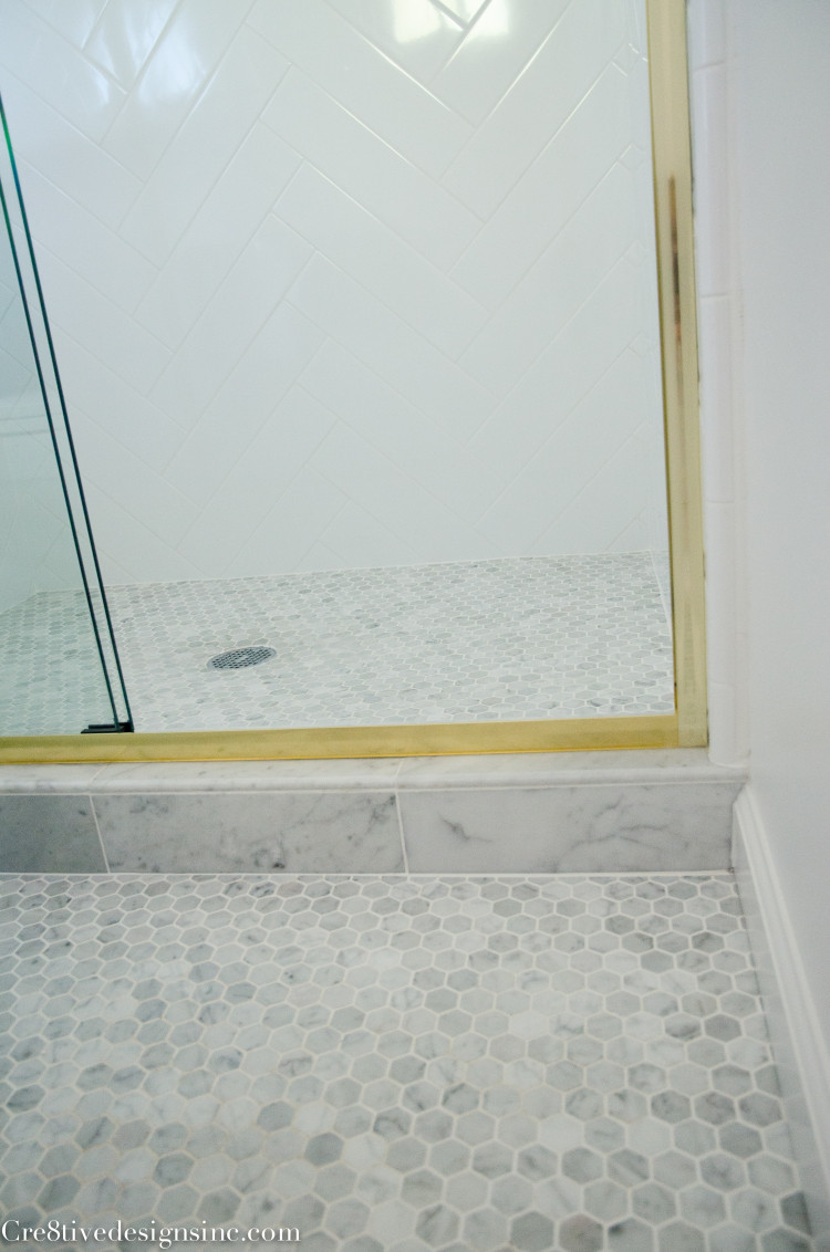 carrera marble octagon tile