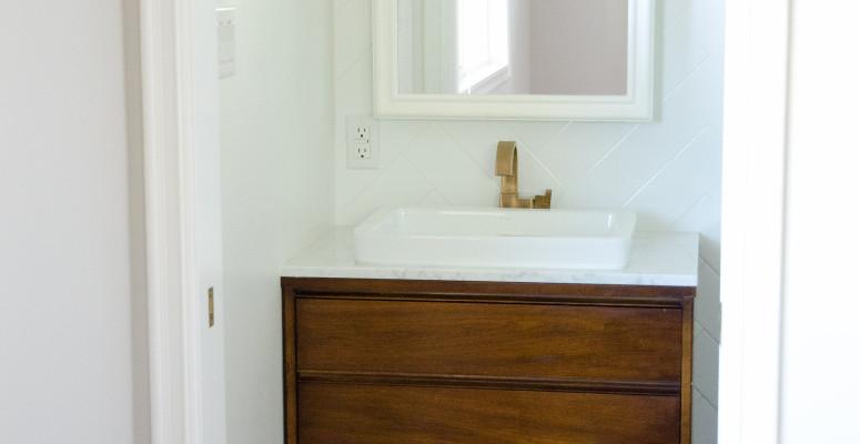 Designing a tiny bathroom