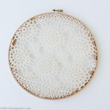 lace and crochet embroidery hoops