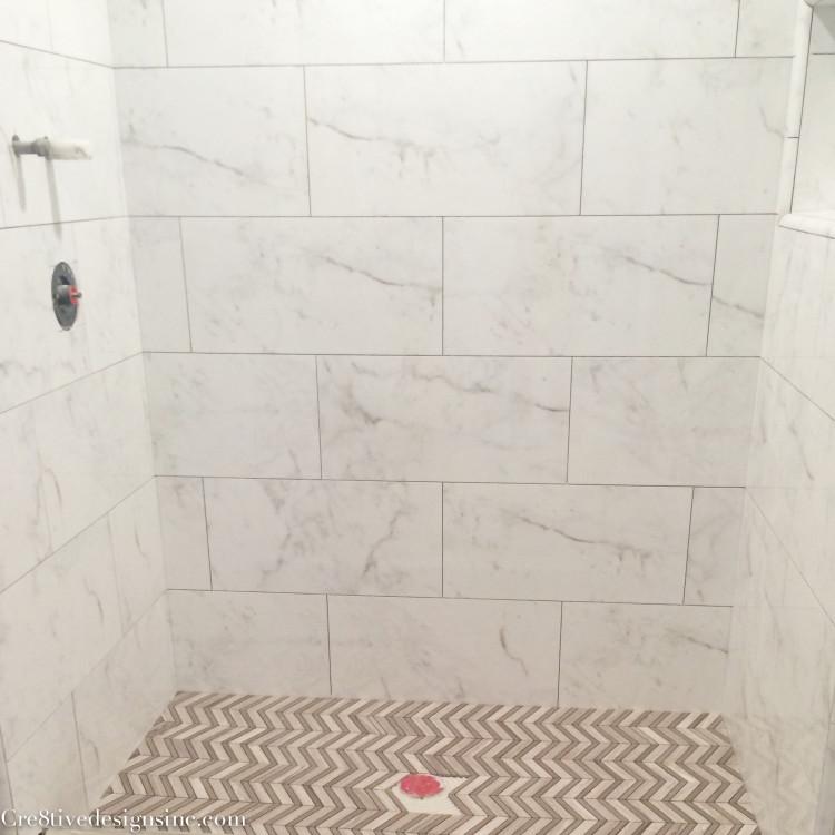 Calcutta marble look tiles