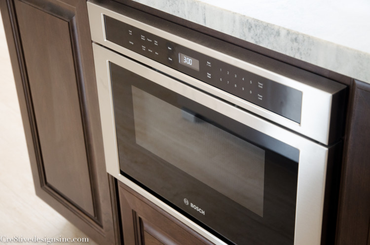 Bosch microwave oven drawer