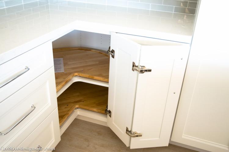 Utilizing corner cabinets