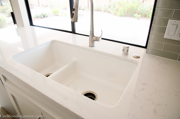 Kohler white iron tones sink