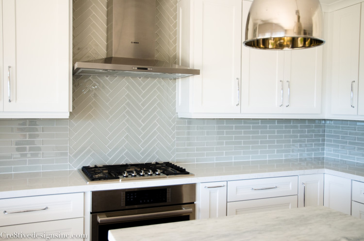 2 x 8 glass tile backsplash