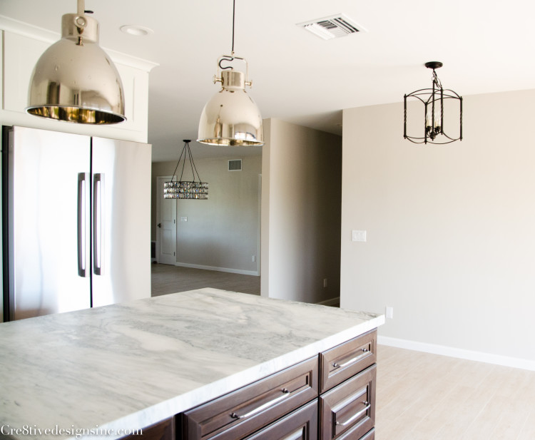 Lighting in a remodeled kitchen