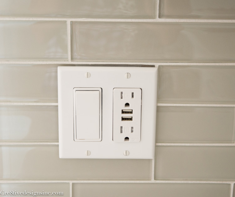 Built in USB wall outlet