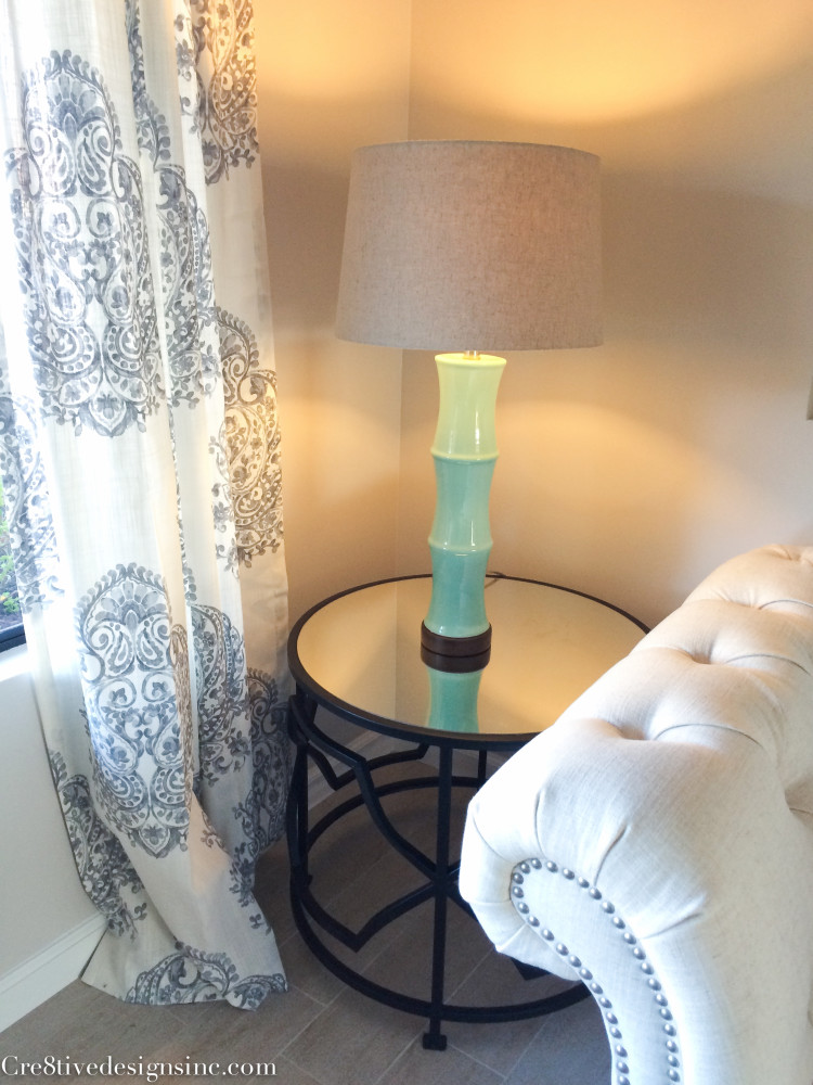 mint green table lamp