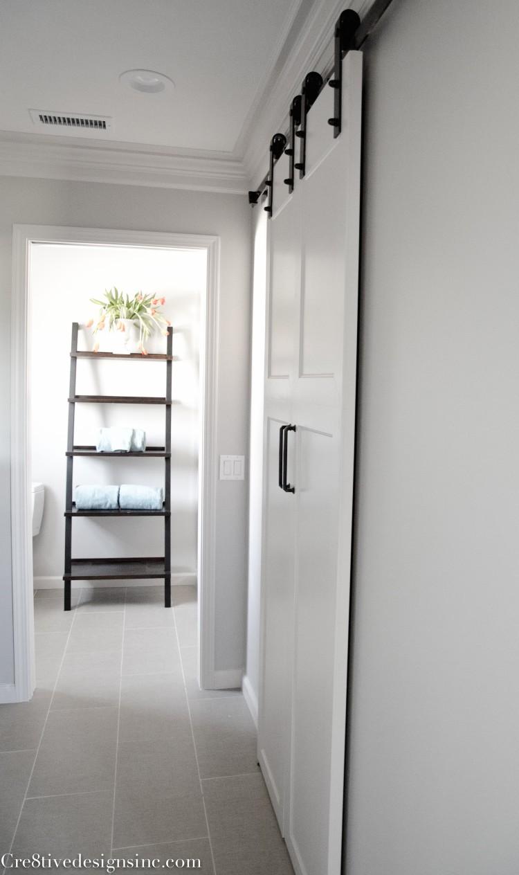 Barn doors as closet doors
