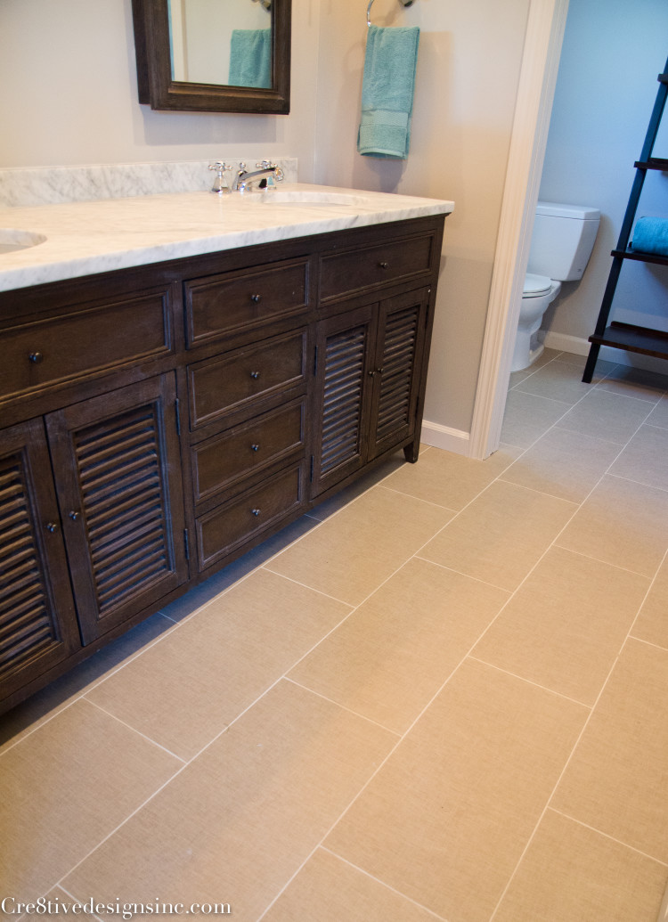 12 x 24 linen look bathroom tile
