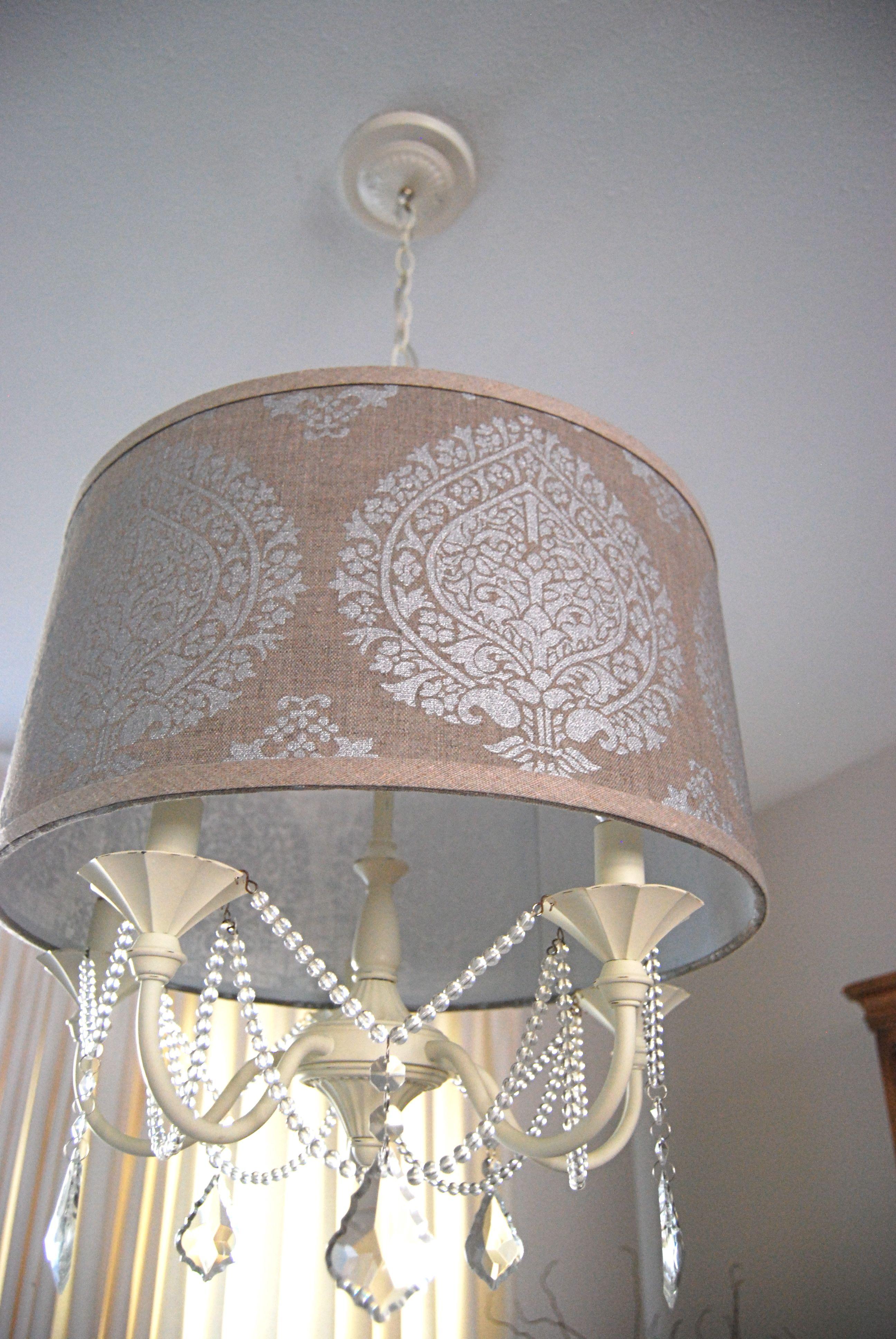 Chandelier makeover on pinterest drum shade chandelier for Chandelier craft ideas