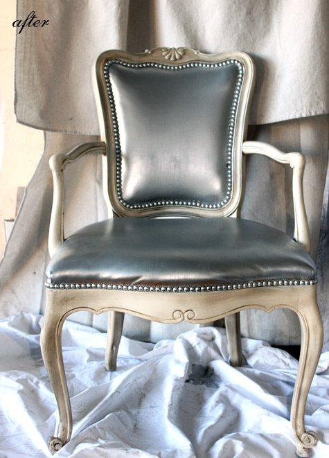 amazing transformation right can you paint leather furniture