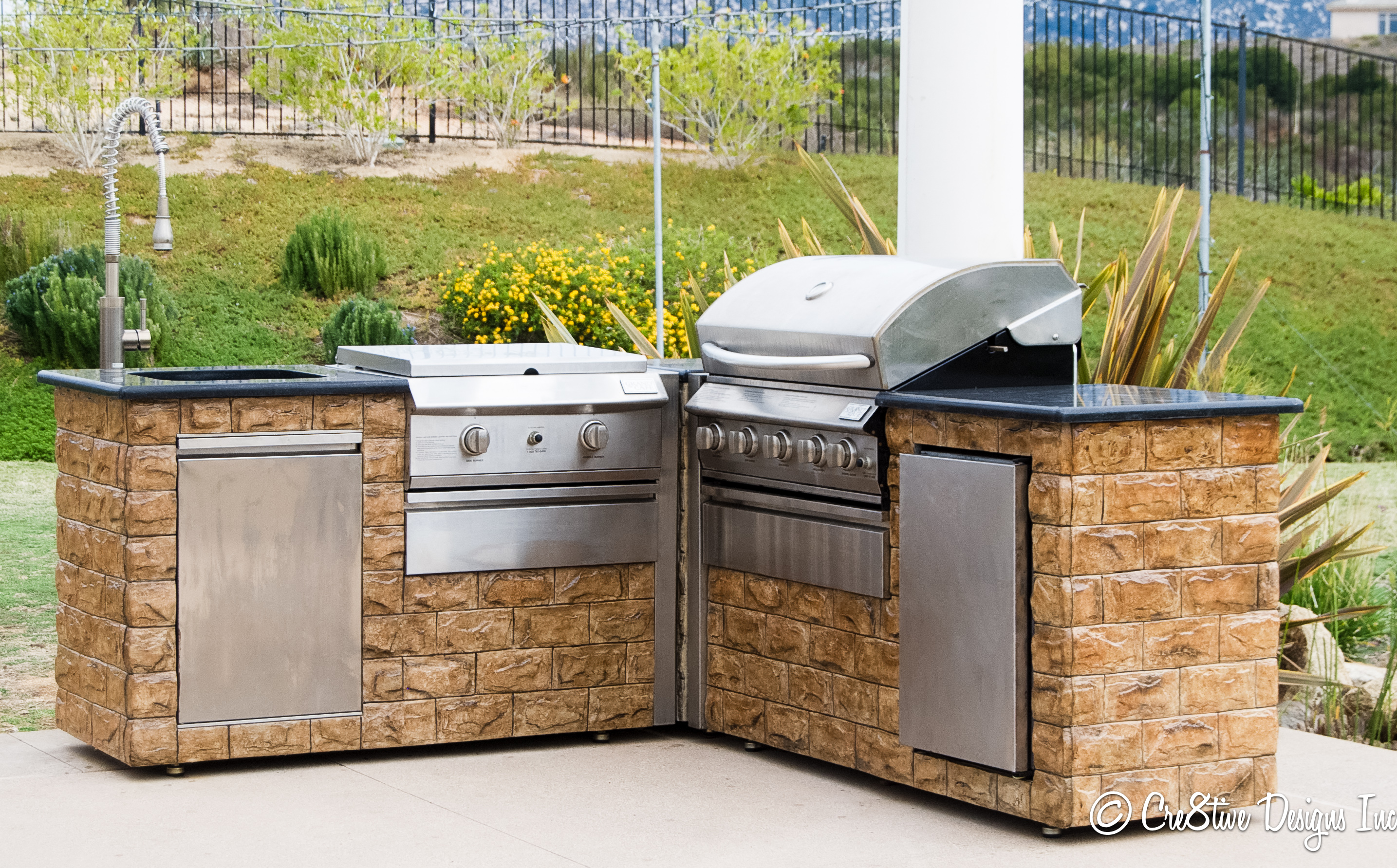Stone bbq gallery for Barbecue islands for sale