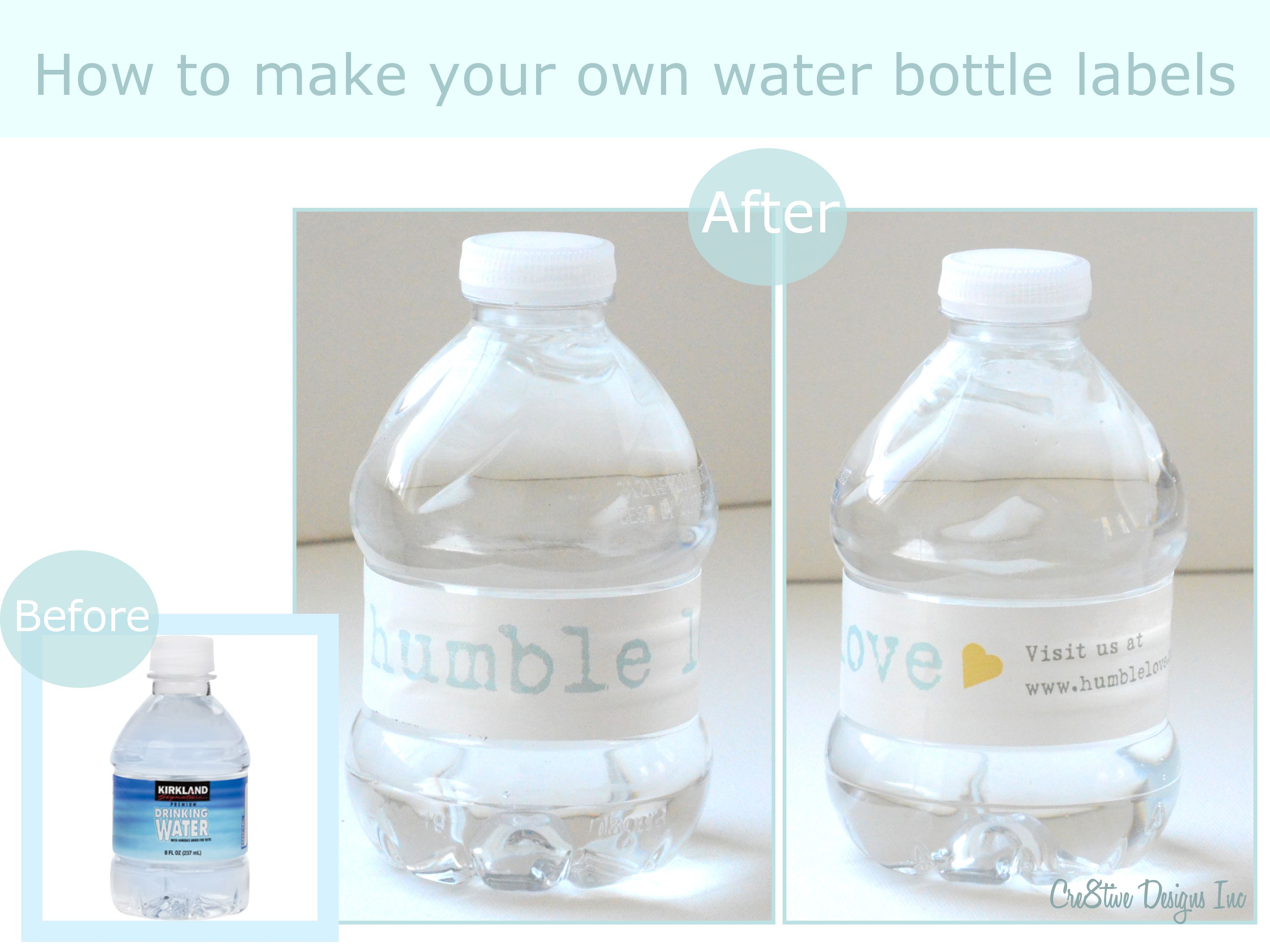 How to make water bottle labels - Cre8tive Designs Inc.