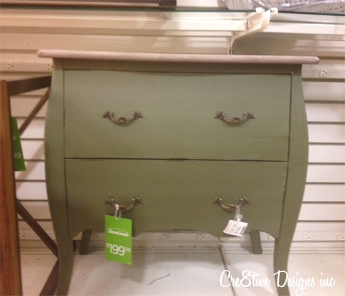 Homegoods furniture makeover Cre8tive Designs Inc