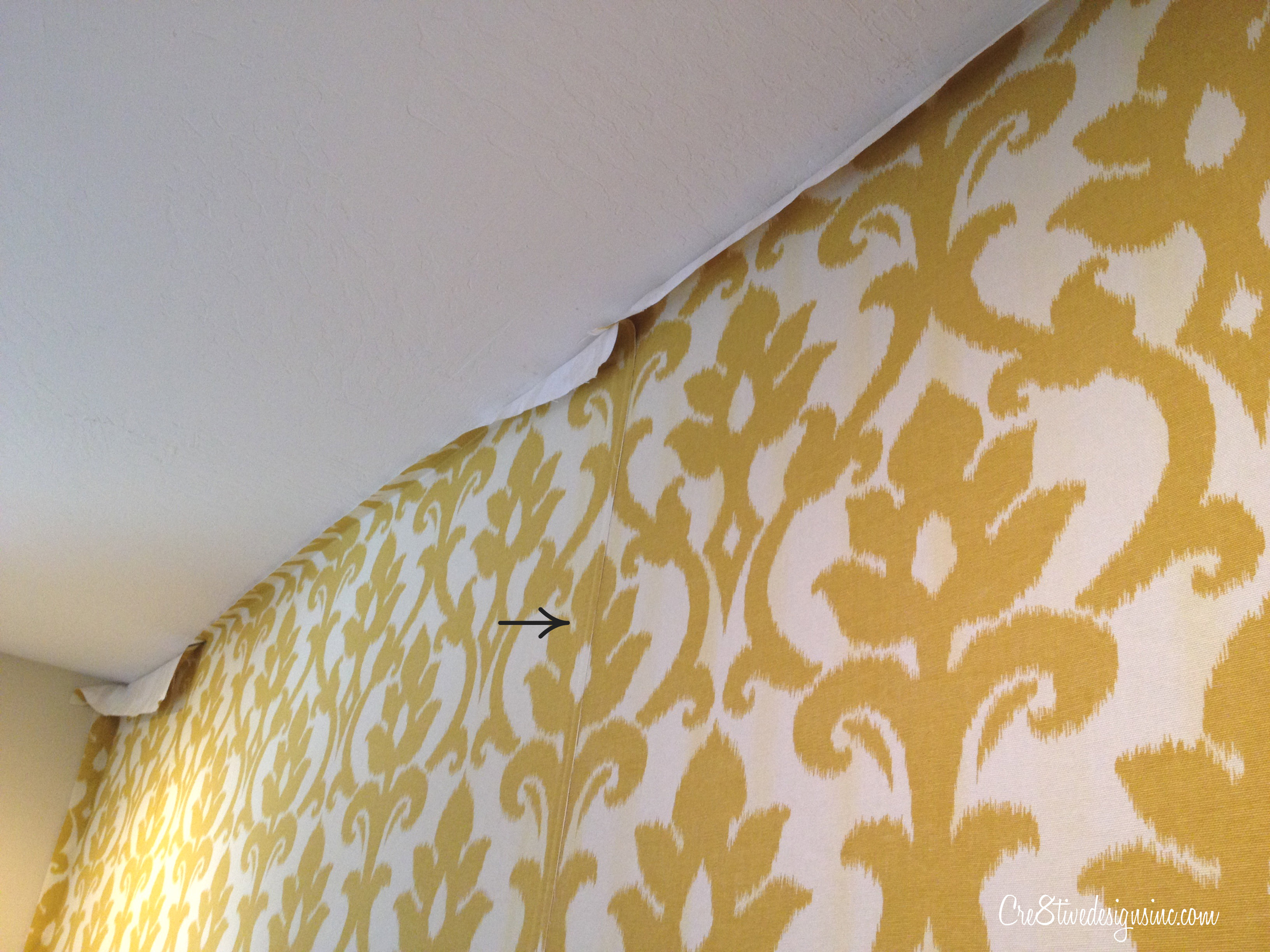 Using Fabric To Cover Walls : How to wallpaper with fabric using starch cre tive