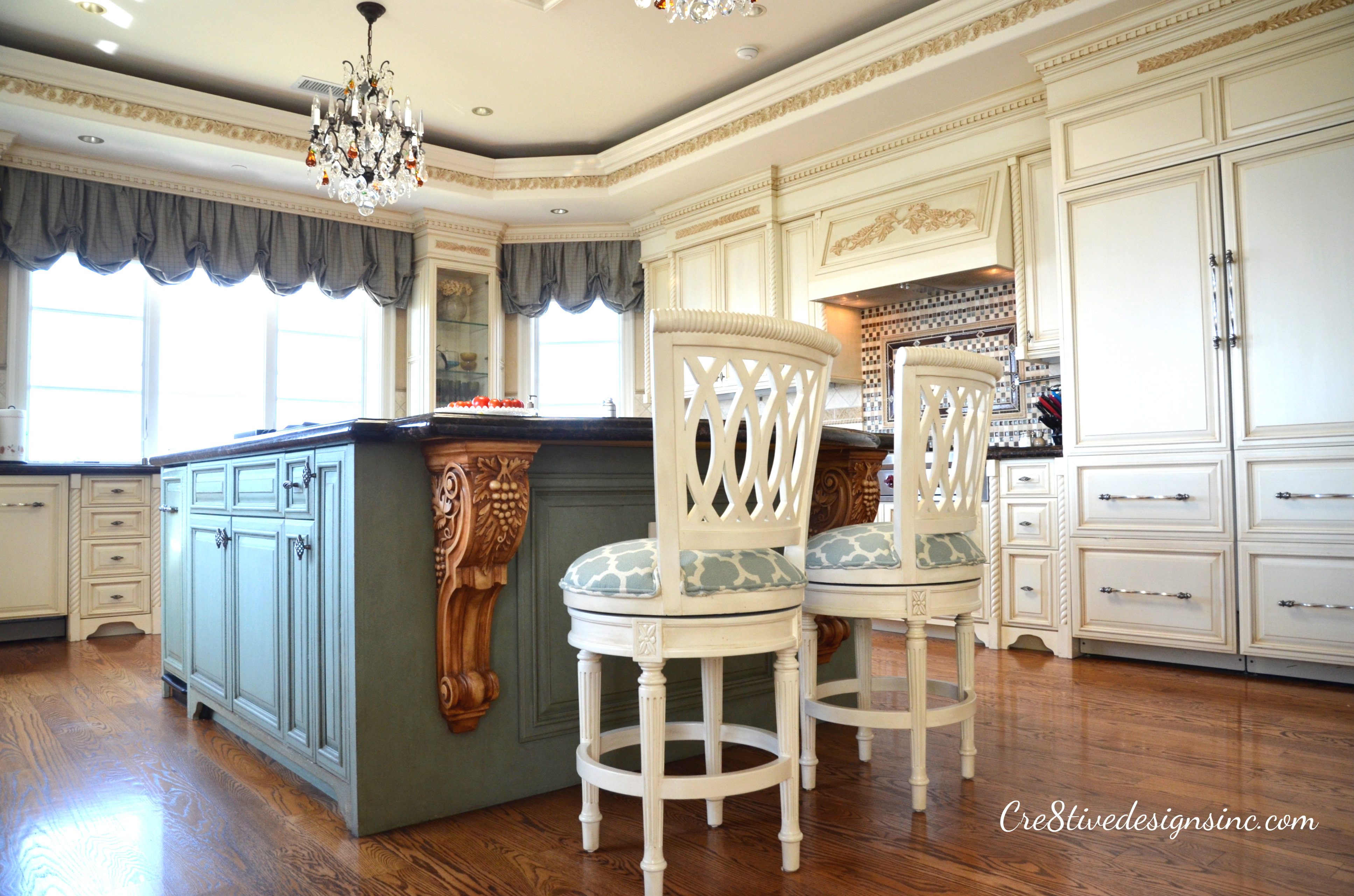 i just wish i would of bought new barstools turquoise kitchen chairs Turquoise and cream kitchen