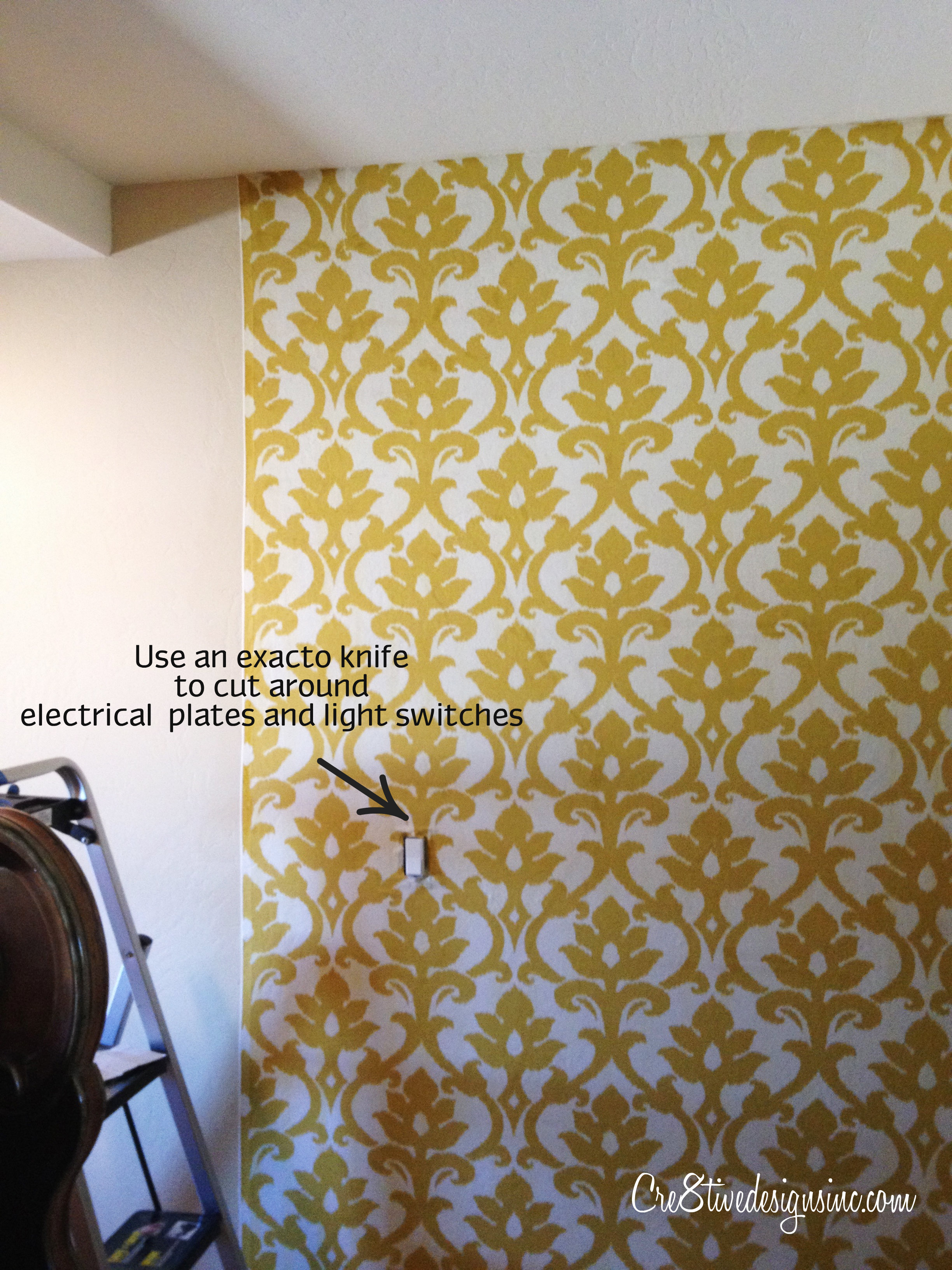 Fabric Wall Paper : How to wallpaper with fabric using starch cre tive