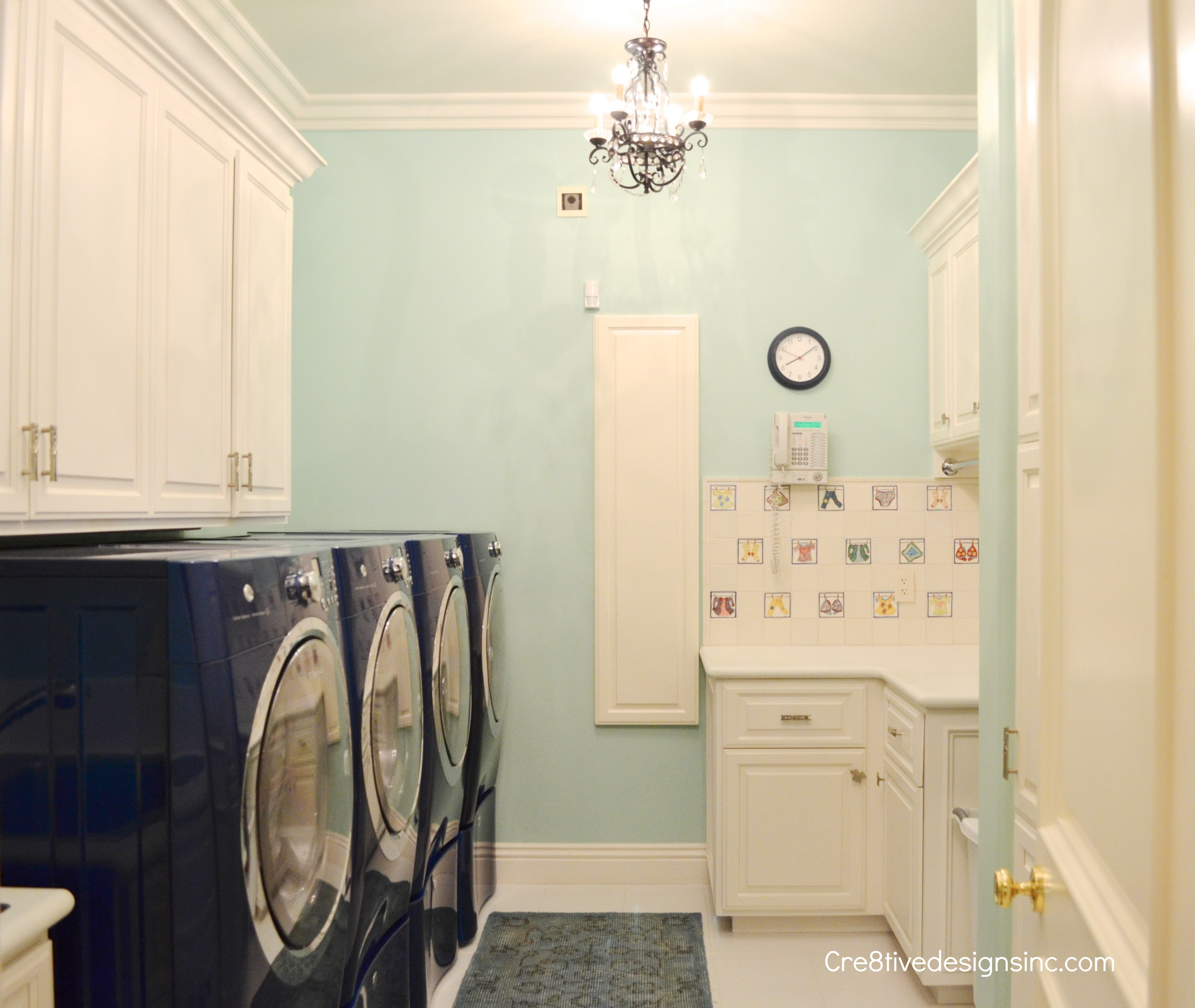 Navy and mint laundry room - Cre8tive Designs Inc.