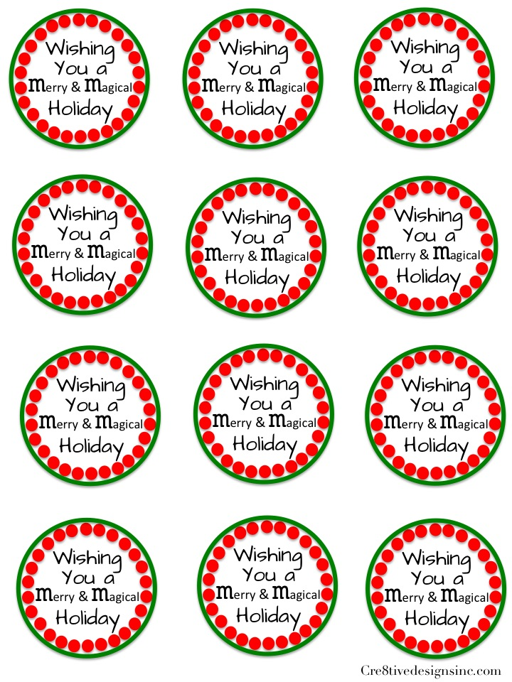 Printable M & M labels