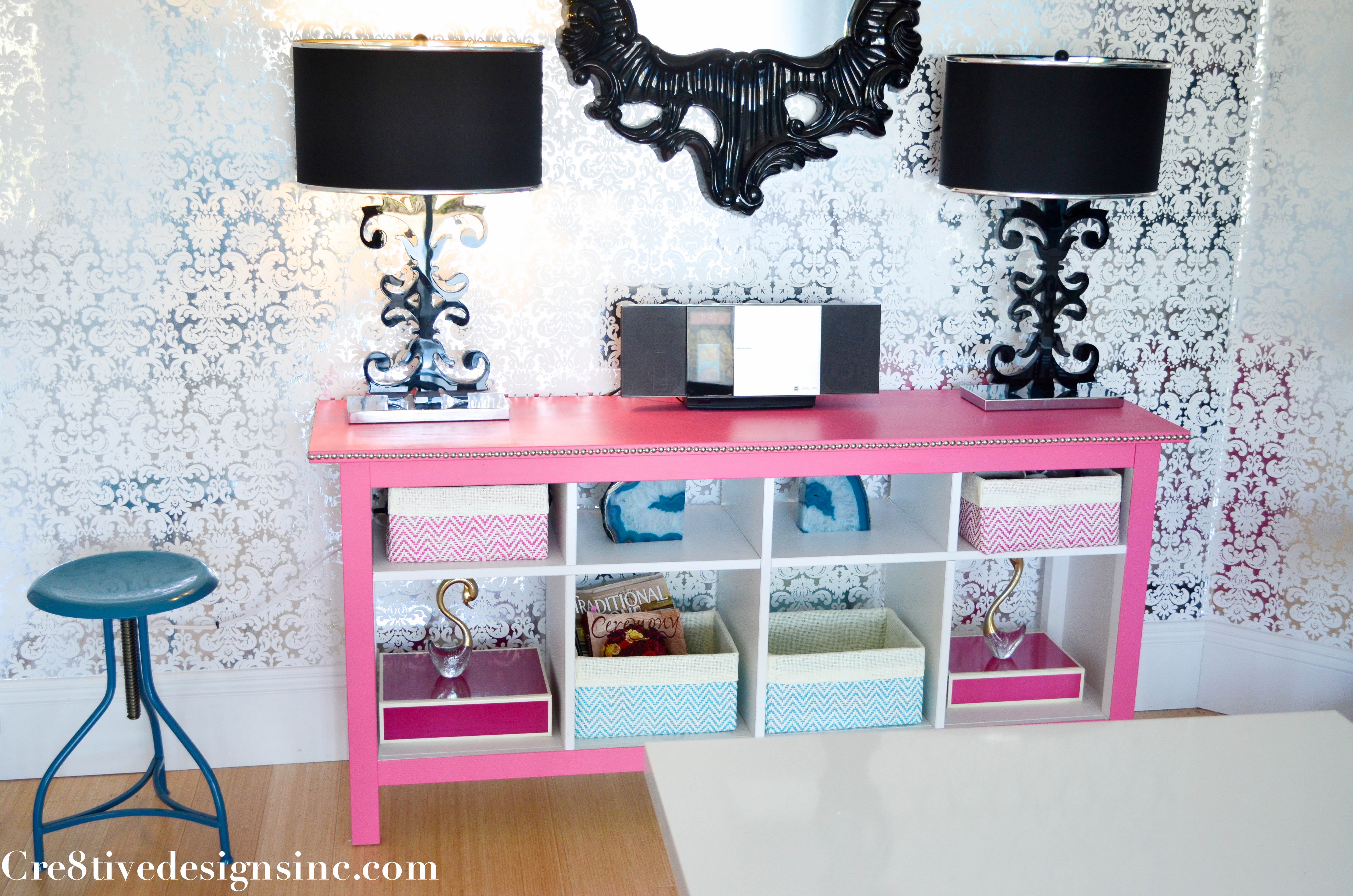 My studio tour aka craft room Cre8tive Designs Inc – Pink Bookcase Ikea