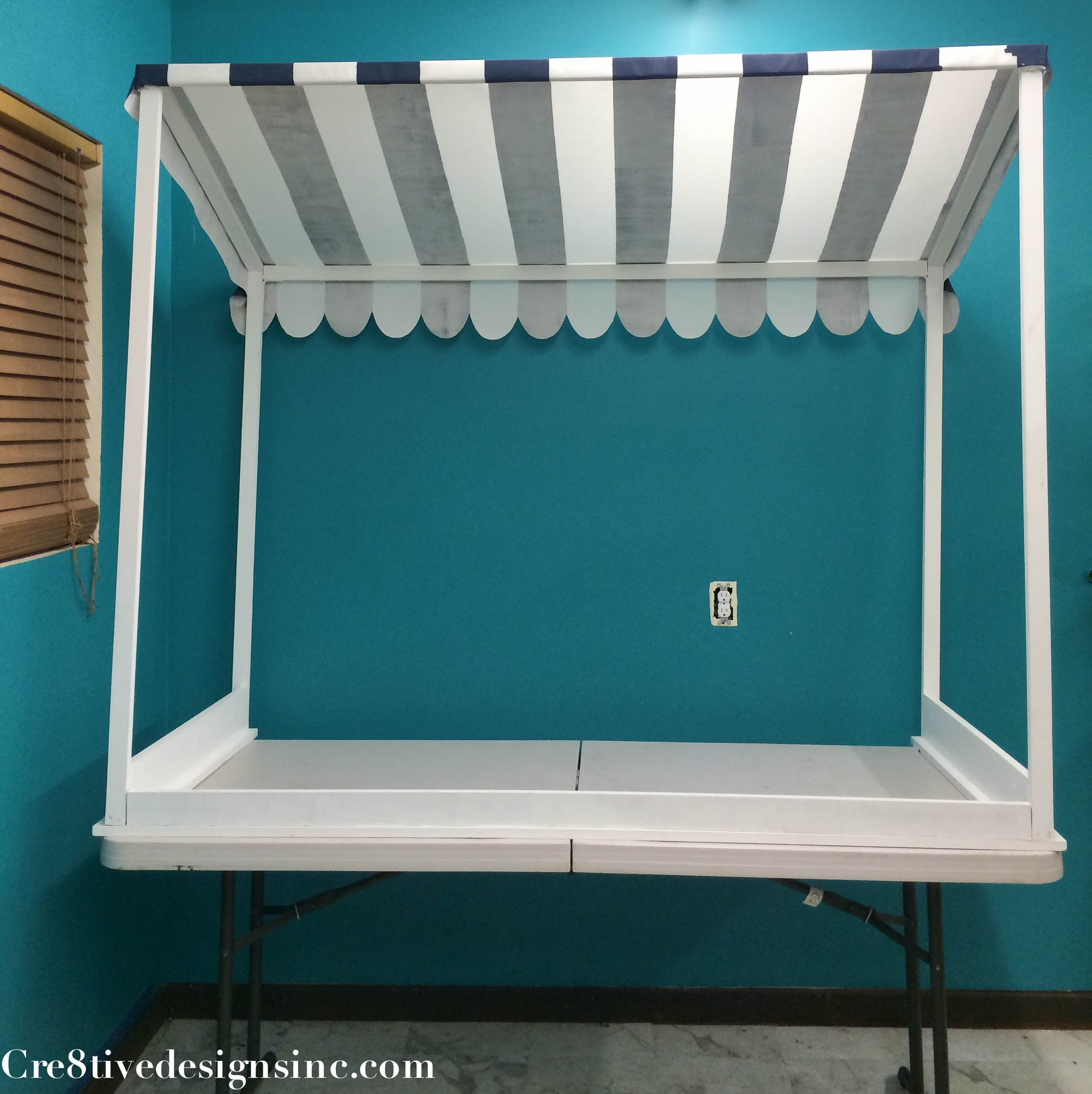 backside of the table top canopy & How to make a table top canopy - Cre8tive Designs Inc.