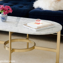 Marble Oval Coffee Table - West elm marble oval coffee table