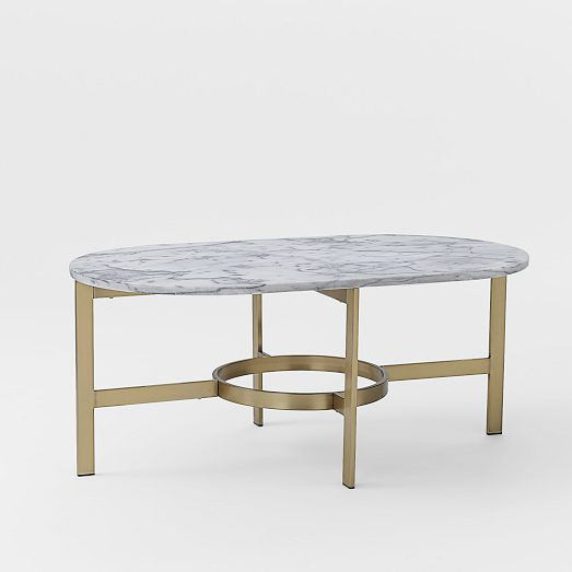 marble oval coffee table - cre8tive designs inc.