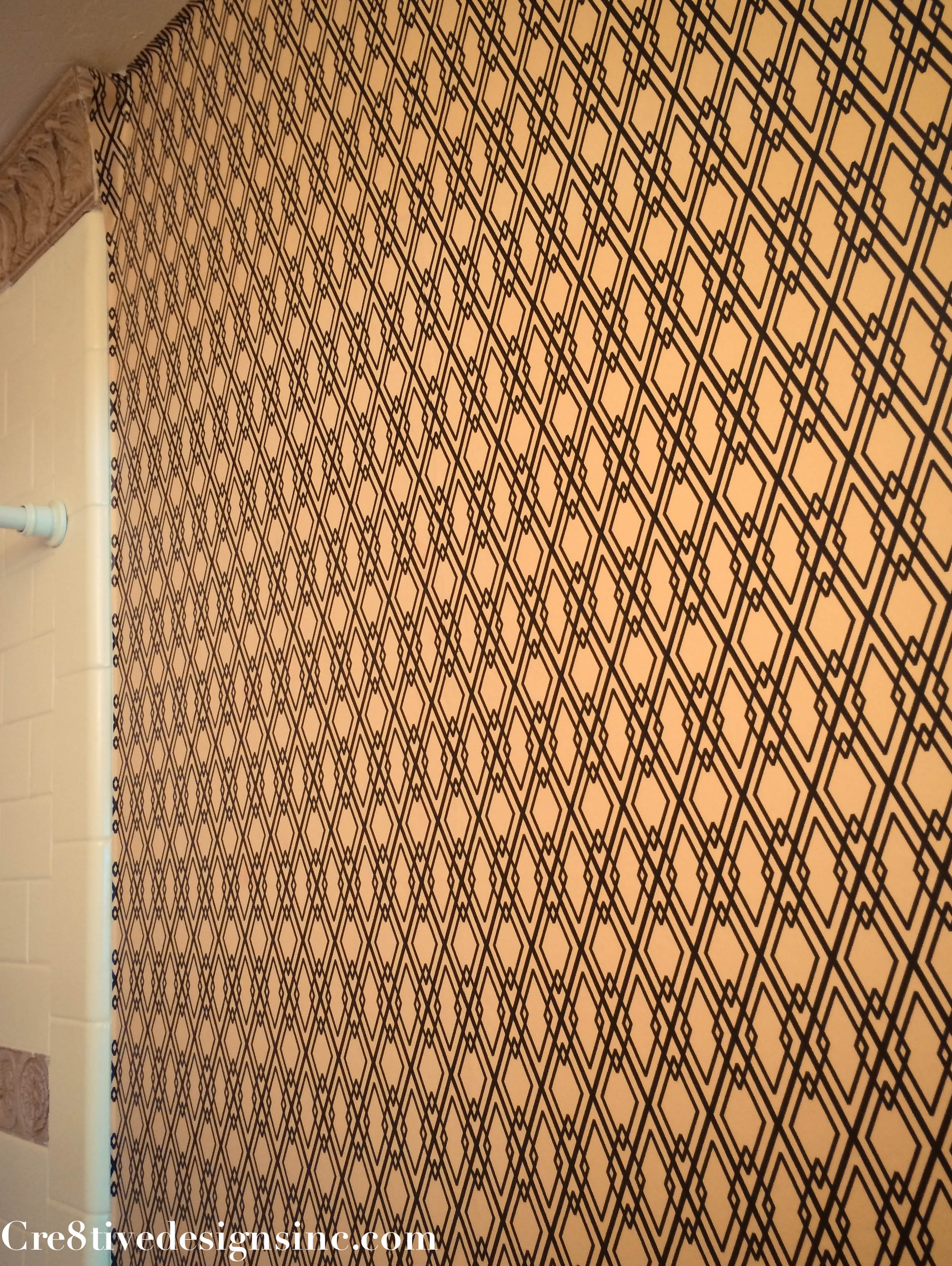 Contact Paper For Walls using contact paper to wallpaper a wall - cre8tive designs inc.
