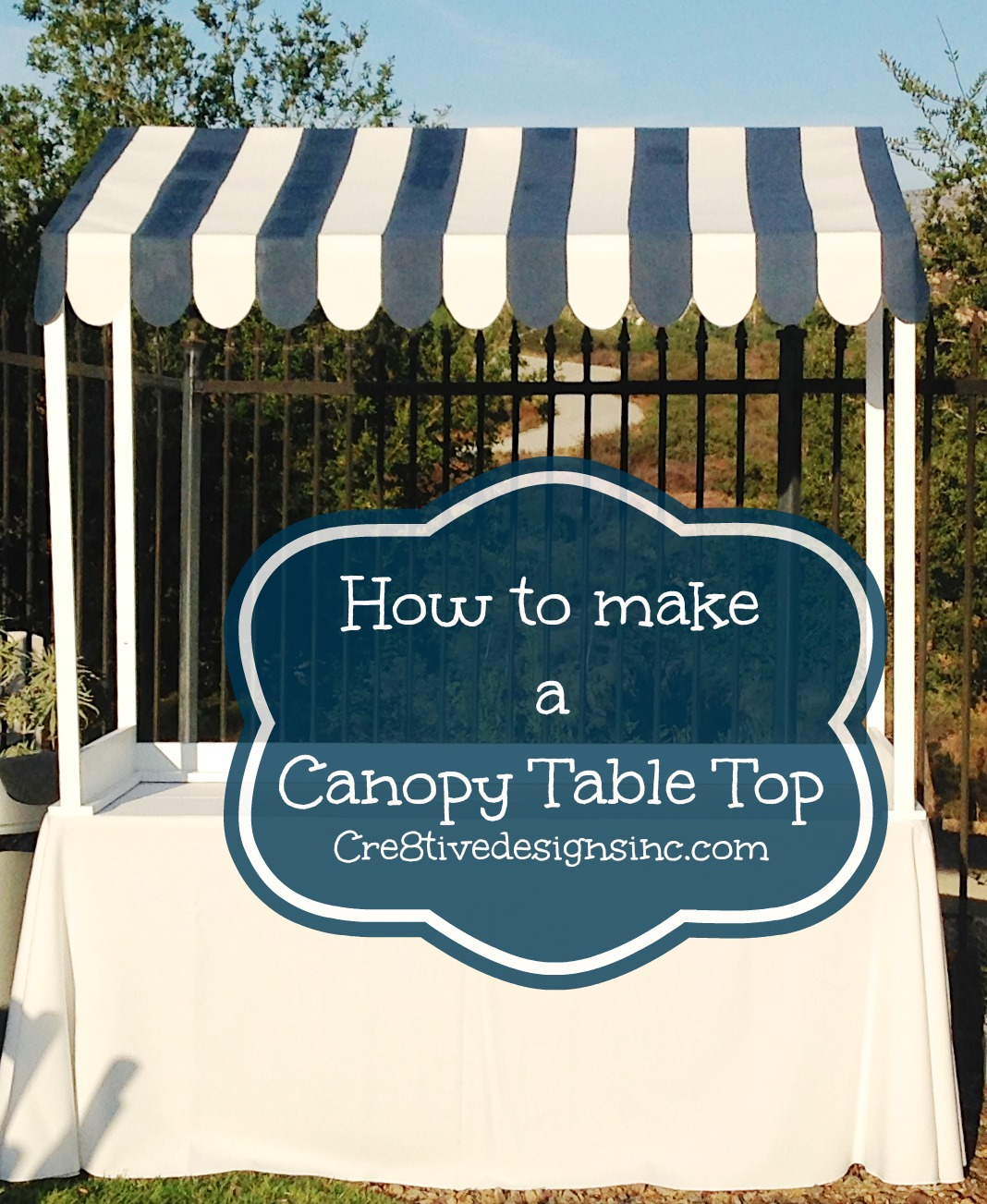 How to make a table top canopy & How to make a table top canopy - Cre8tive Designs Inc.