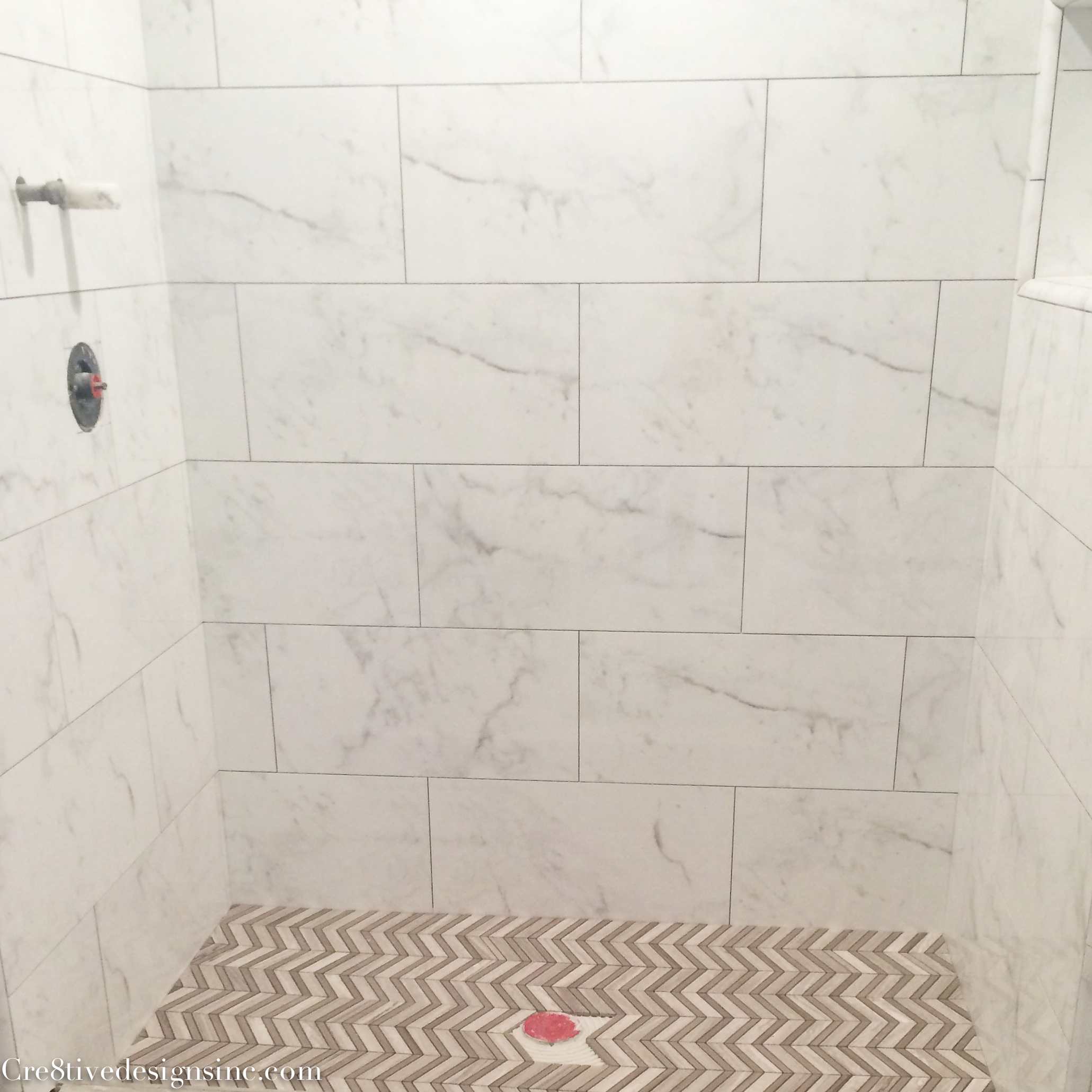When tile goes wrong cre8tive designs inc calcutta marble look tiles dailygadgetfo Gallery