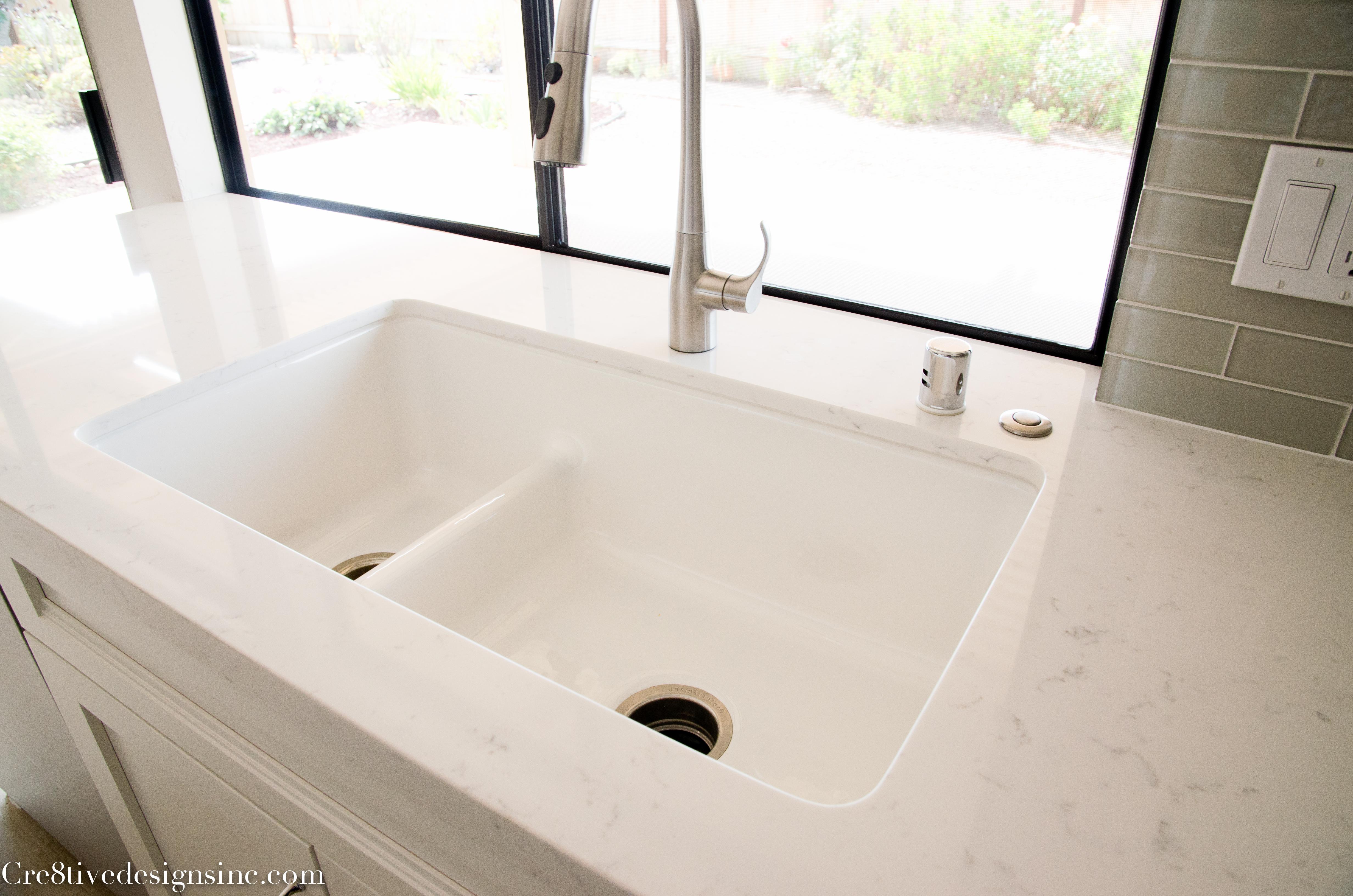 Fabulous Kohler white iron tones sink