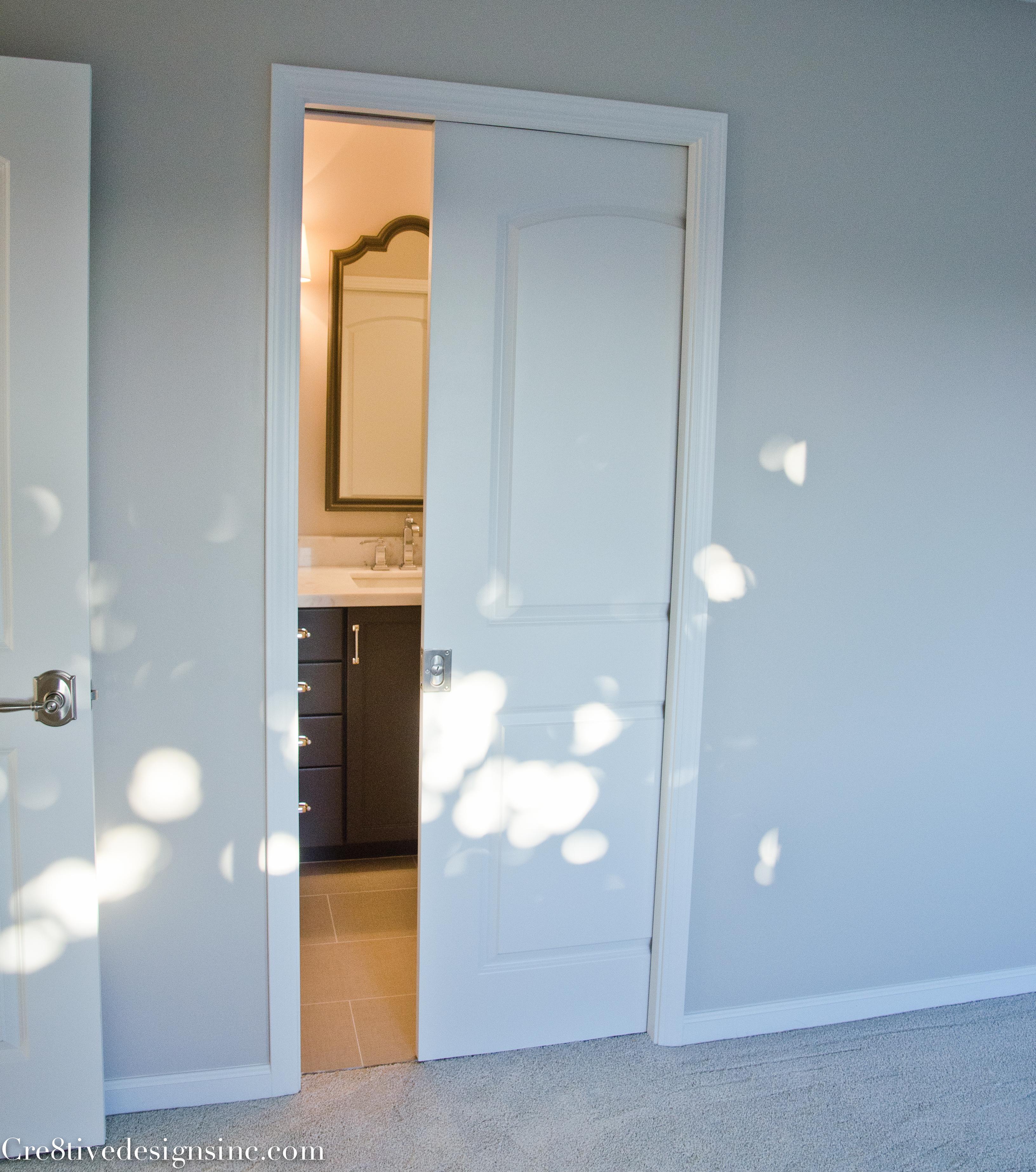 Beautiful Pocket door into master bathroom
